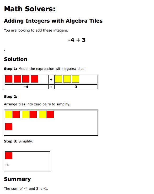 Math solver algebra