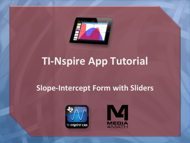 Slope Intercept Form Media4maths Blog