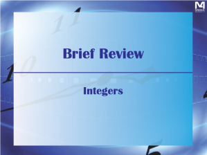 BriefReviews--Integers